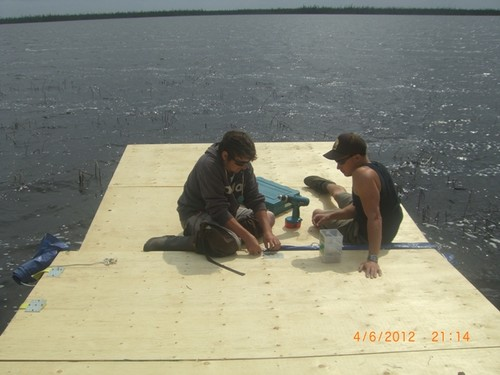 John and Ryan on the Dock